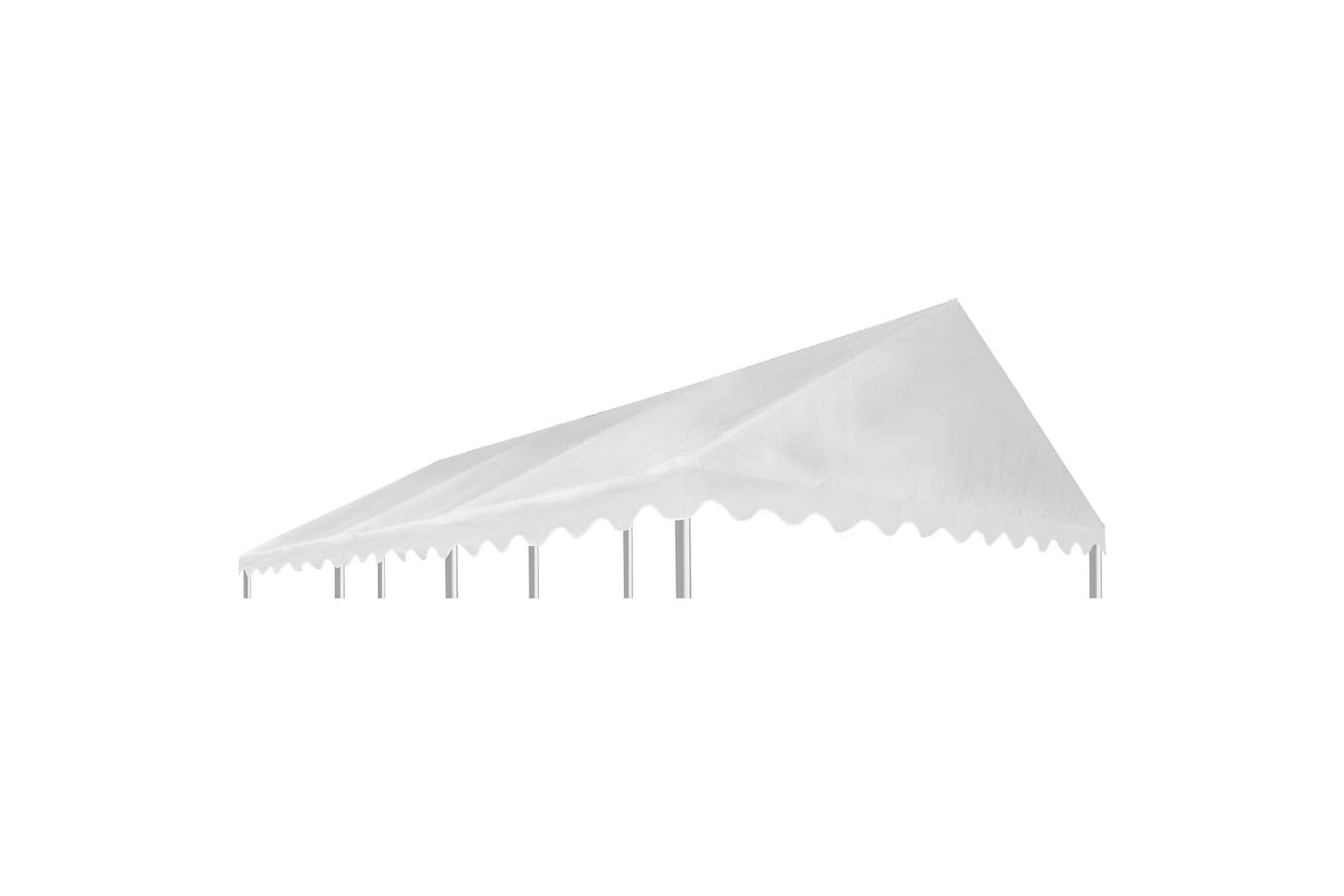Paviljongtak PVC 500 g/m2 6×4 m vit