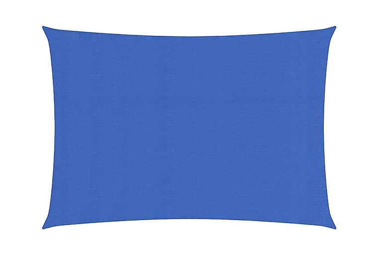 Solsegel 160 g/m² blå 2,5x4,5 m HDPE - Blå - Utemöbler - Solskydd - Övrig solskydd