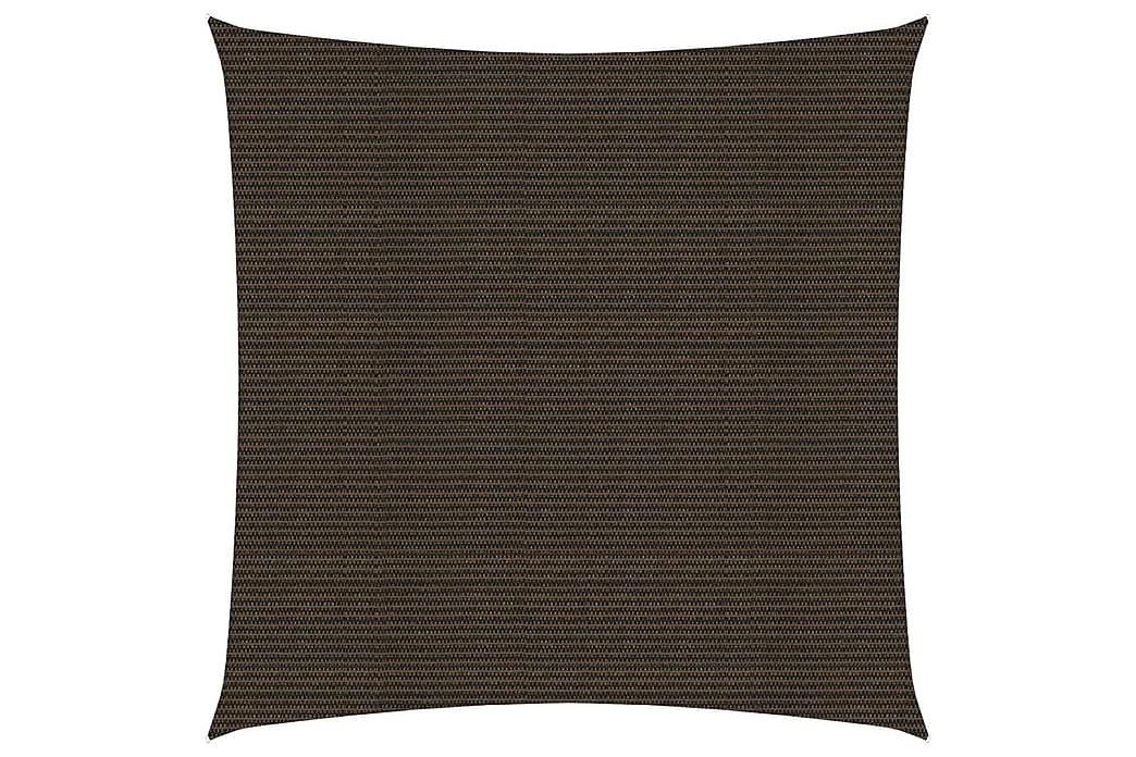 Solsegel 160 g/m² brun 2x2 m HDPE - Brun - Utemöbler - Solskydd - Övrig solskydd