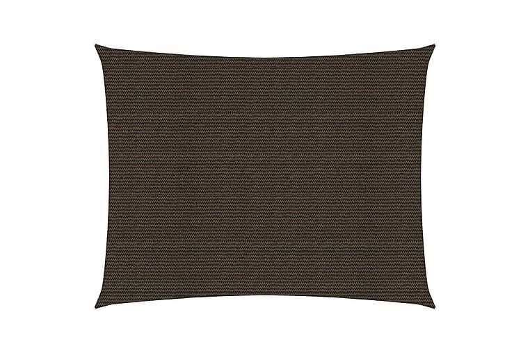 Solsegel 160 g/m² brun 2x3 m HDPE - Brun - Utemöbler - Solskydd - Övrig solskydd
