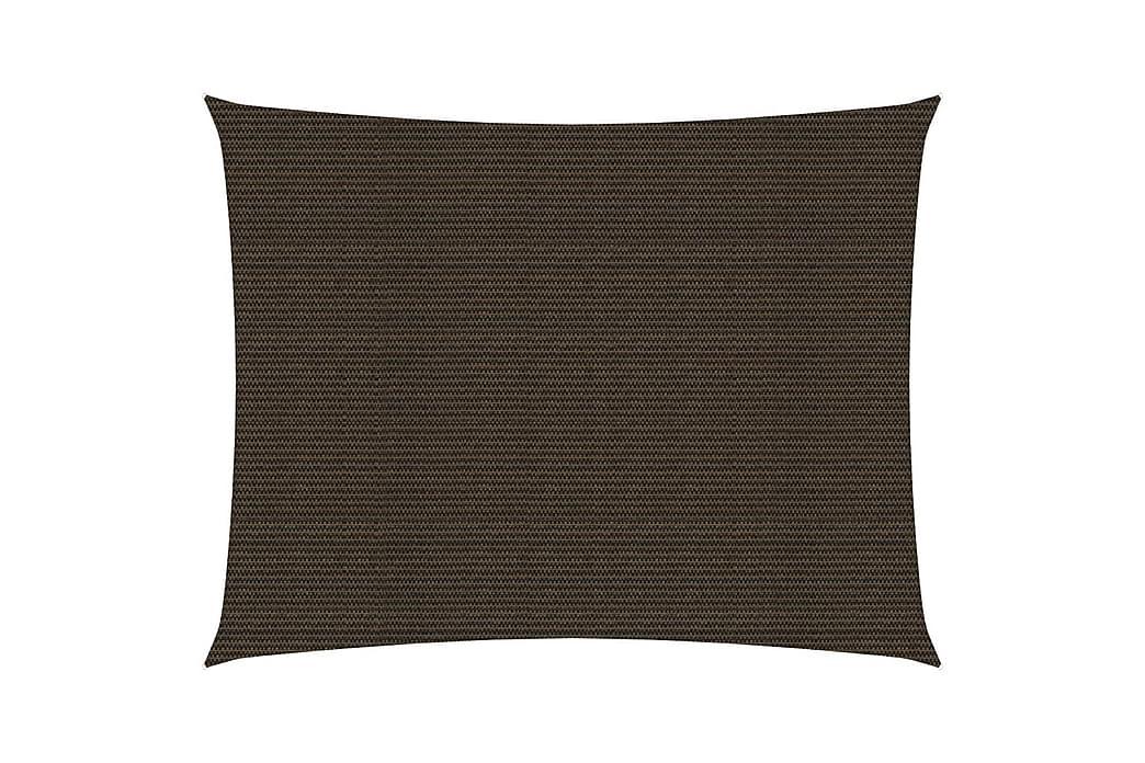 Solsegel 160 g/m² brun 3,5x4,5 m HDPE - Brun - Utemöbler - Solskydd - Övrig solskydd