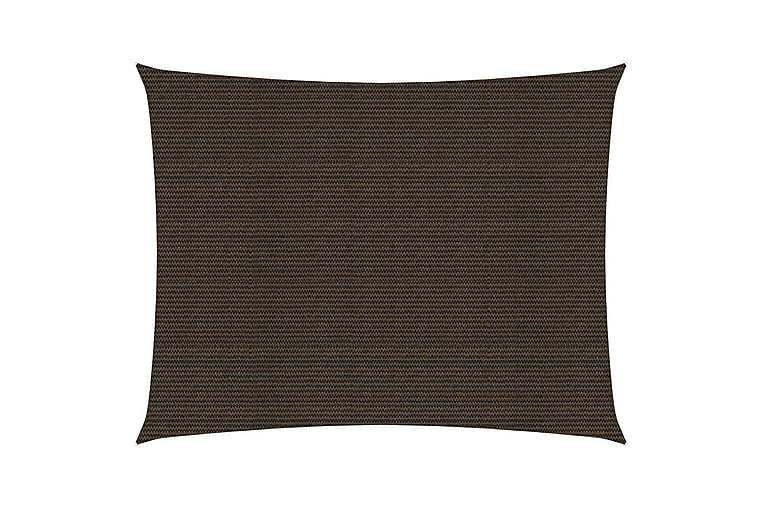 Solsegel 160 g/m² brun 6x7 m HDPE - Brun - Utemöbler - Solskydd - Övrig solskydd