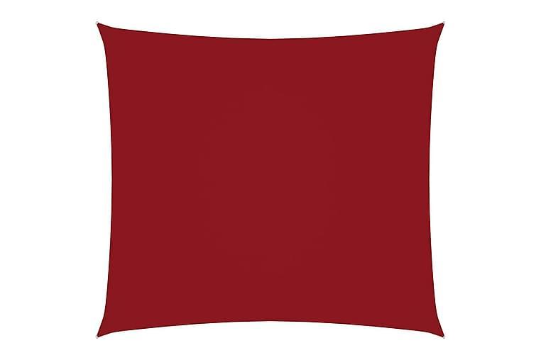 Solsegel oxfordtyg fyrkantigt 5x5 m röd - Röd - Utemöbler - Solskydd - Övrig solskydd