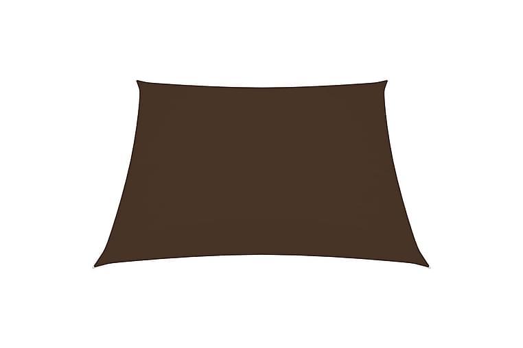 Solsegel oxfordtyg fyrkantigt 7x7 m brun - Brun - Utemöbler - Solskydd - Solsegel