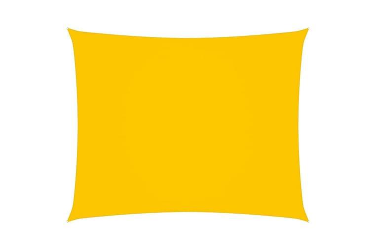 Solsegel oxfordtyg rektangulärt 6x7 m gul - Gul - Utemöbler - Solskydd - Övrig solskydd