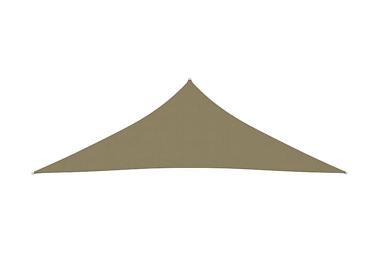 Solsegel Oxfordtyg trekantigt 3,5x3,5x4,9 m beige - Beige - Utemöbler - Solskydd - Övrig solskydd