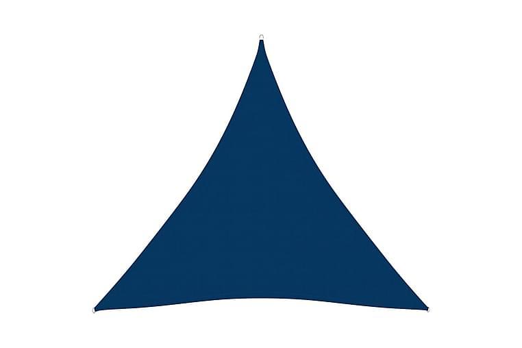 Solsegel oxfordtyg trekantigt 3x4x4 m blå - Blå - Utemöbler - Solskydd - Övrig solskydd