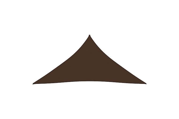 Solsegel oxfordtyg trekantigt 5x7x7 m brun - Brun - Utemöbler - Solskydd - Solsegel