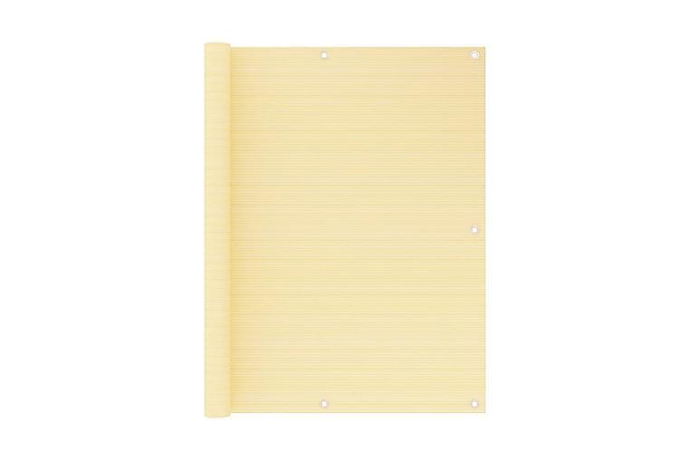 Balkongskärm beige 120x300 cm HDPE - Beige - Utemöbler - Solskydd - Övrig solskydd