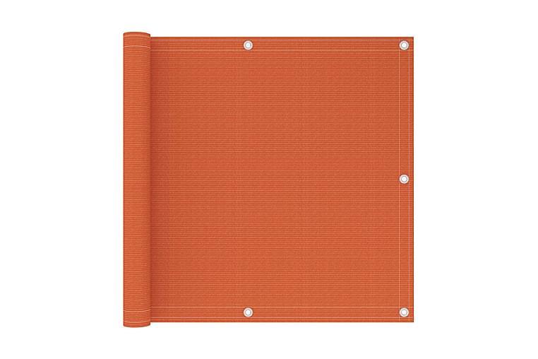 Balkongskärm orange 90x400 cm HDPE - Orange - Utemöbler - Solskydd - Övrig solskydd