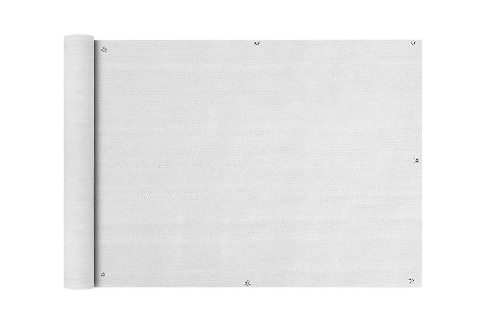 Balkongskärm HDPE 90 x 600 cm vit, Solskydd