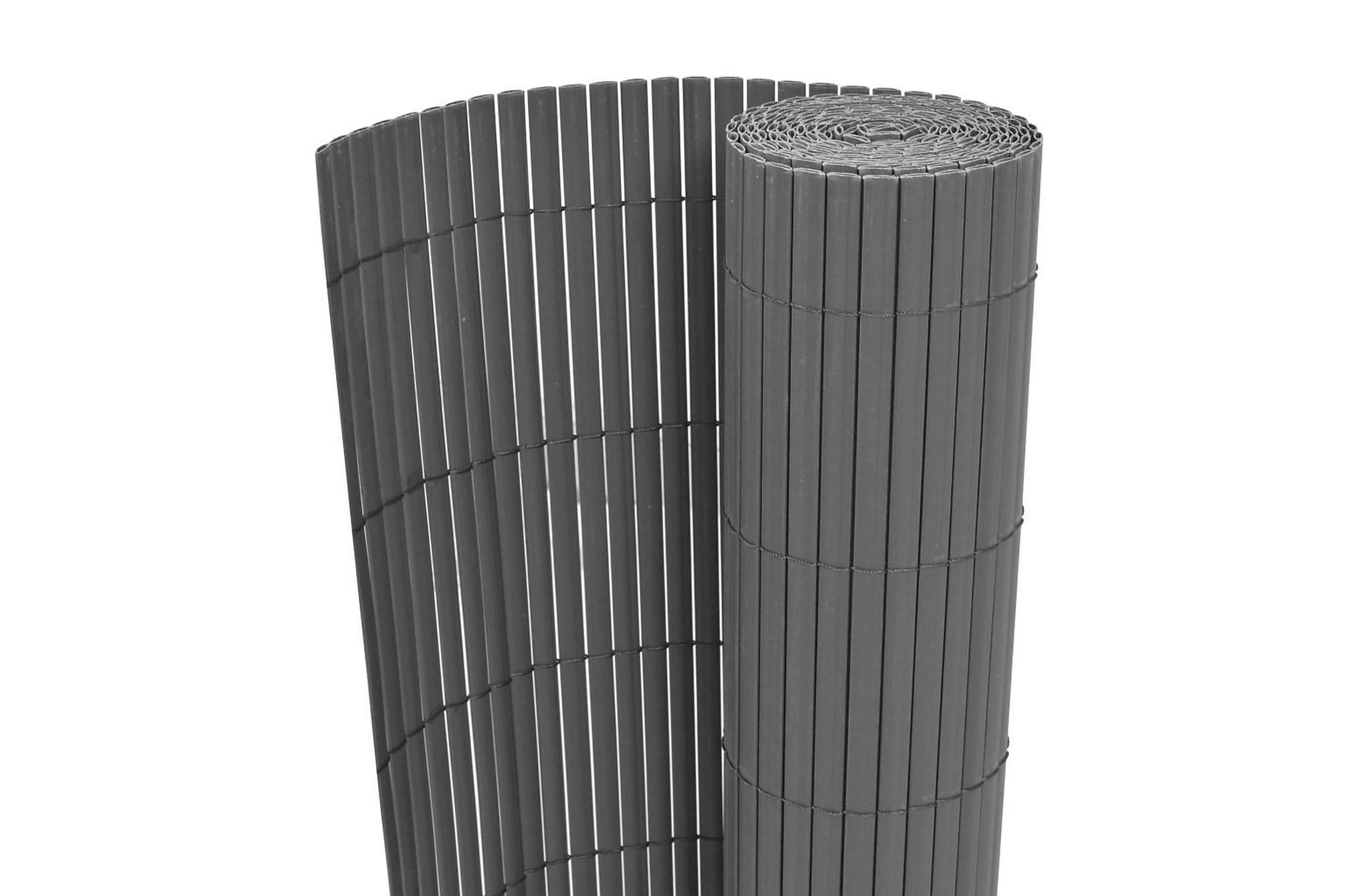 Dubbelsidigt insynsskydd PVC 150x500 cm grå, Solskydd
