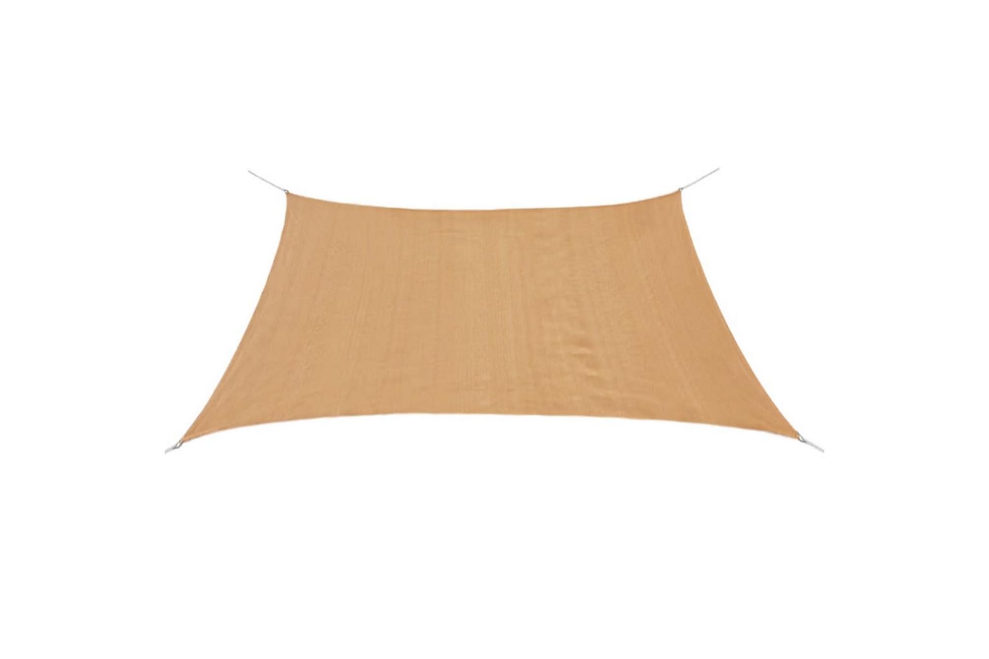 Solsegel HDPE fyrkantigt 2x2 m beige