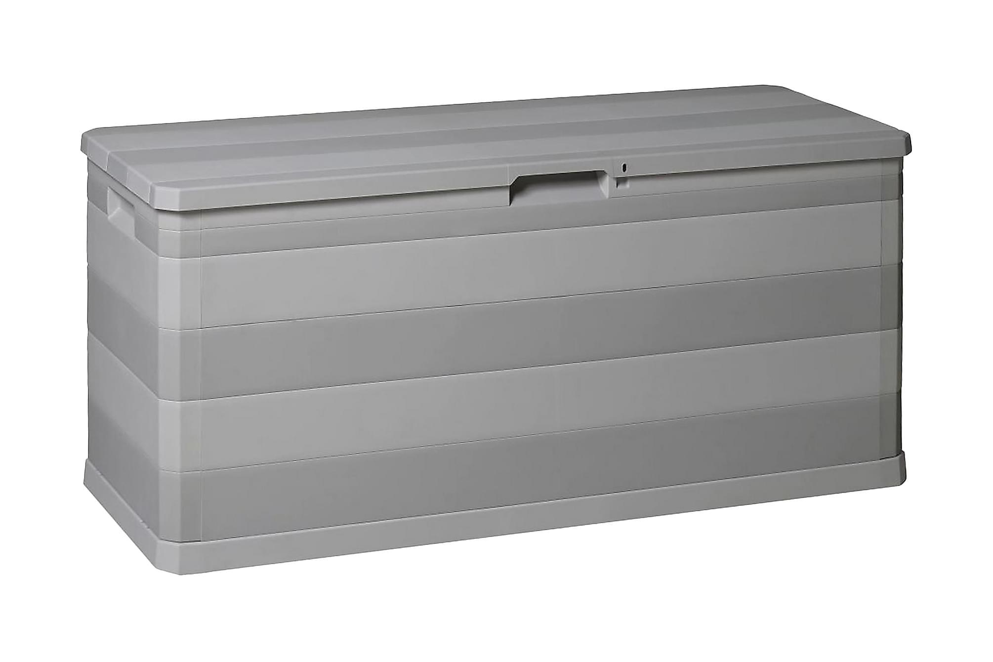 Dynbox 117x45x56 cm grå, Dynboxar & dynlådor