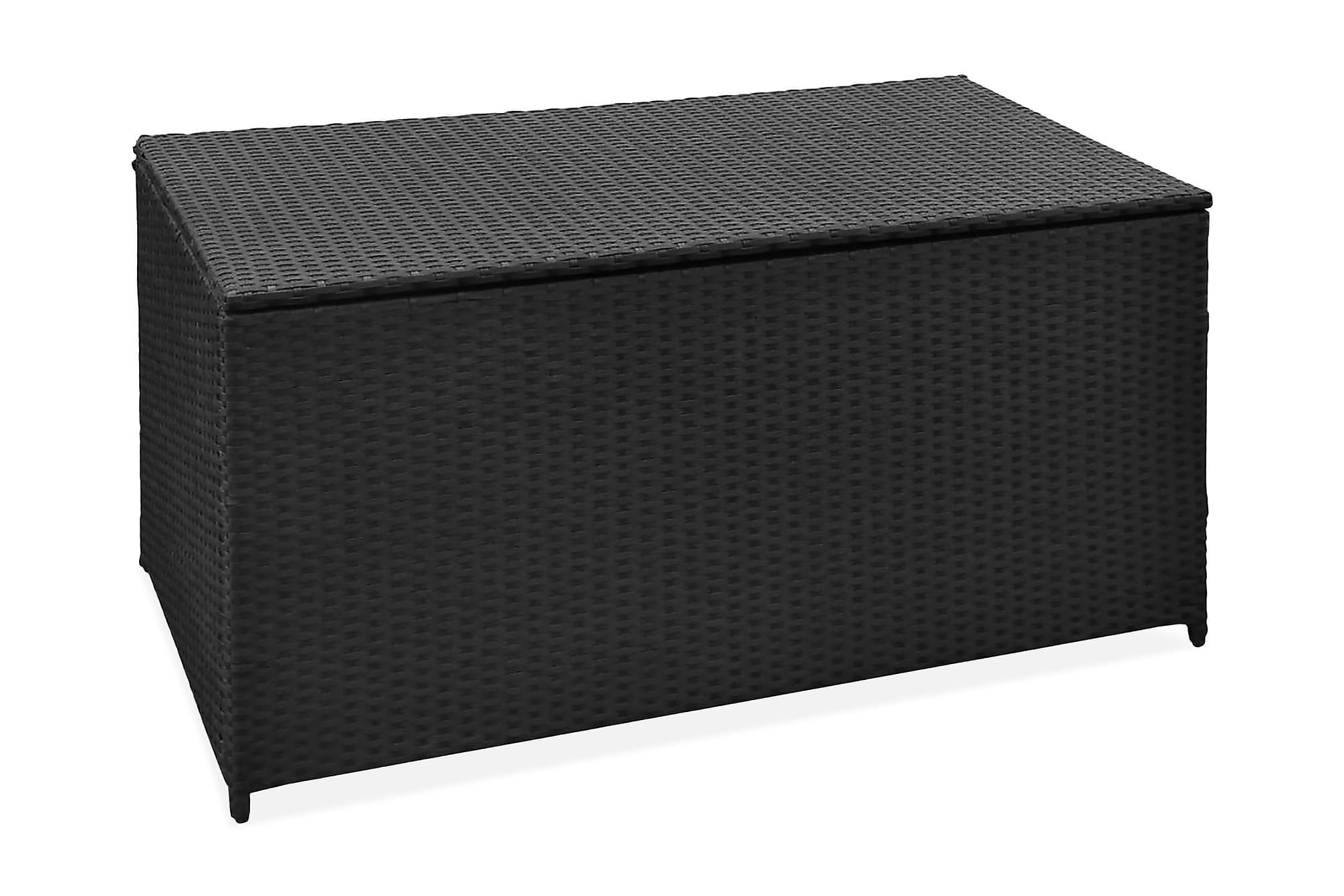Dynbox 120x50x60 cm konstrotting svart, Dynboxar & dynlådor