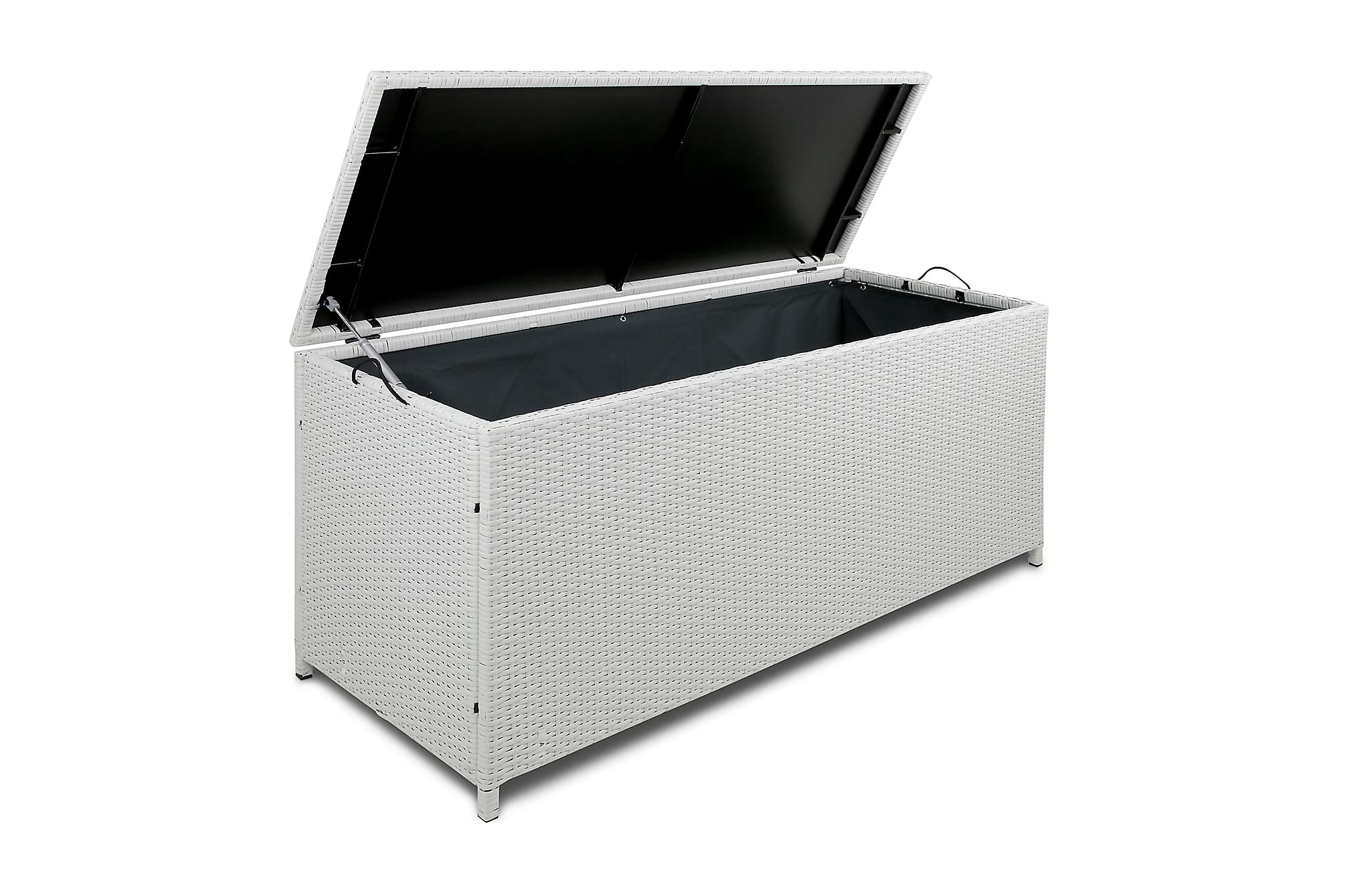 Dynbox i konstrotting till utemöbler – Vit