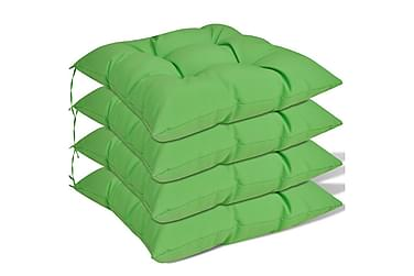 Stolsdynor 4 st 40x40x8 cm grön