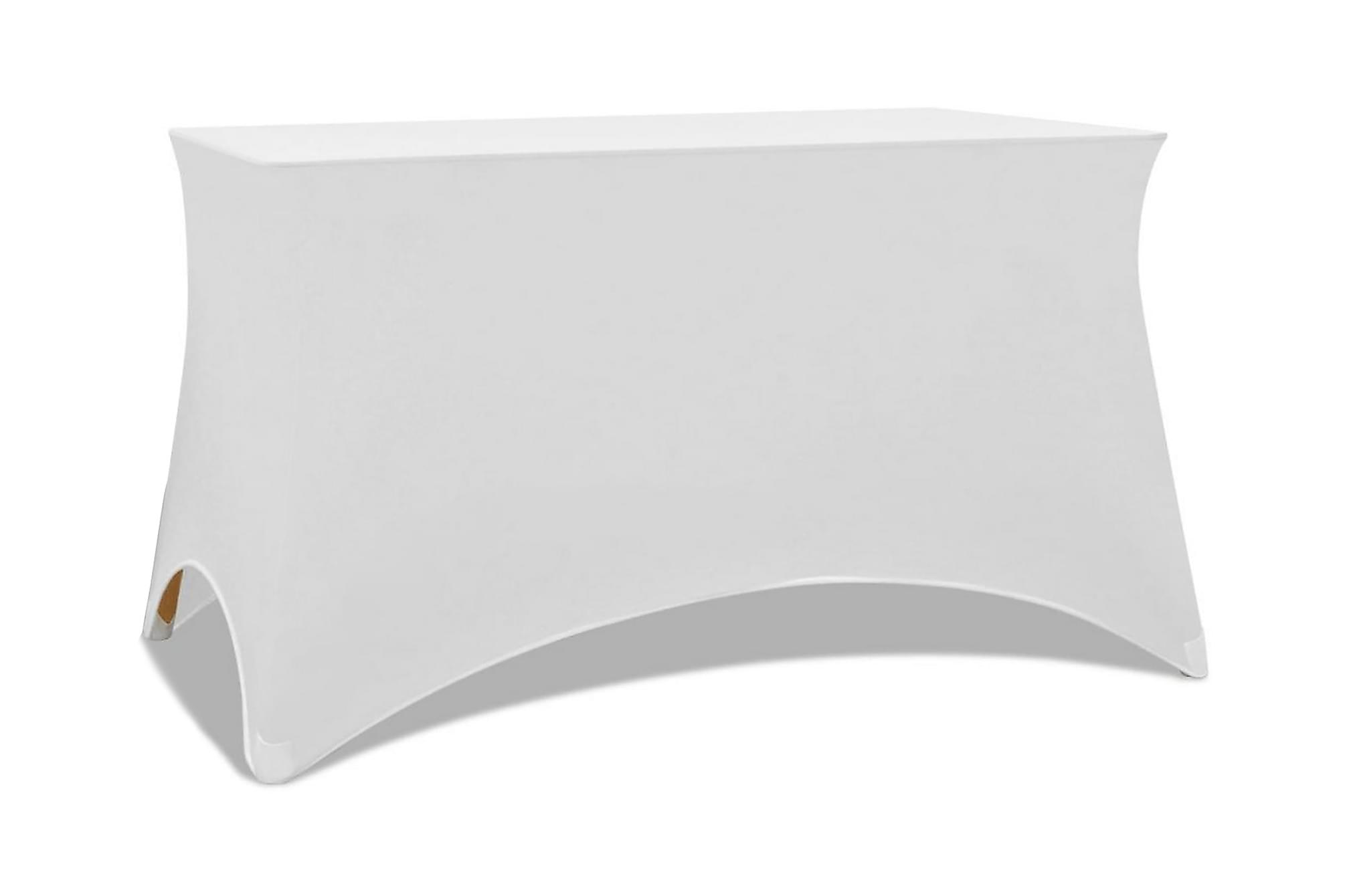 Bordsöverdrag stretch 2 st vit 120x60,5x74 cm, Möbelvård
