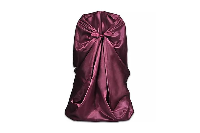 Stolsklädsel till bröllopsmiddag 6 st Burgundy - Burgundy - Utemöbler - Tillbehör - Möbelvård