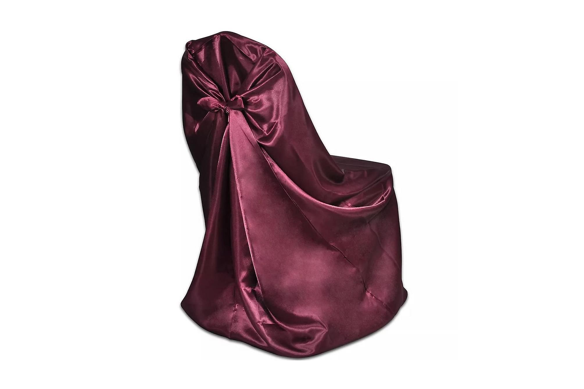 Stolsklädsel till bröllopsmiddag 6 st Burgundy, Möbelvård