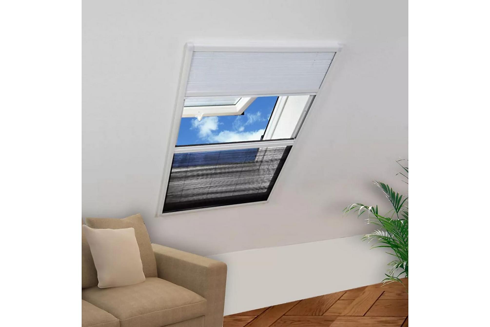 Lemuel Insektsnät Fönster Plisserat med Jalusi 80×100 cm