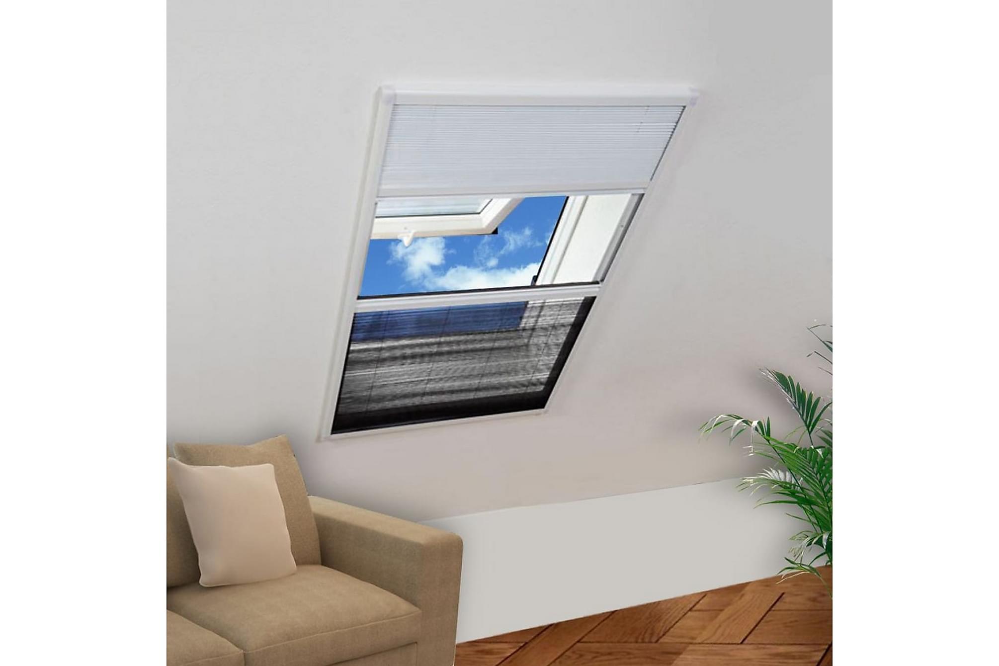 Lemuel Insektsnät Fönster Plisserat med Solskydd 160×80 cm