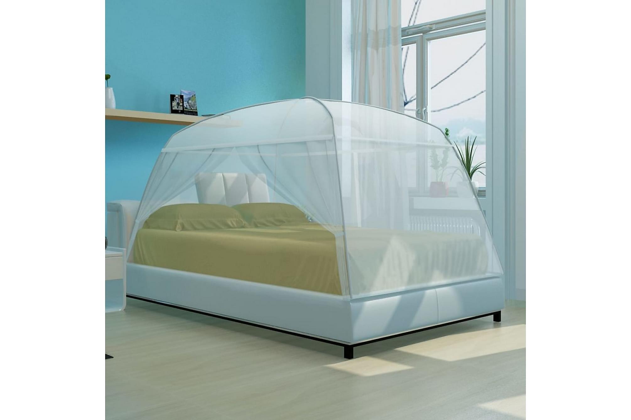 Myggnät säng 200x150x145 cm vit