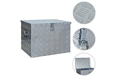 Aluminiumlåda 610x430x455 mm silver
