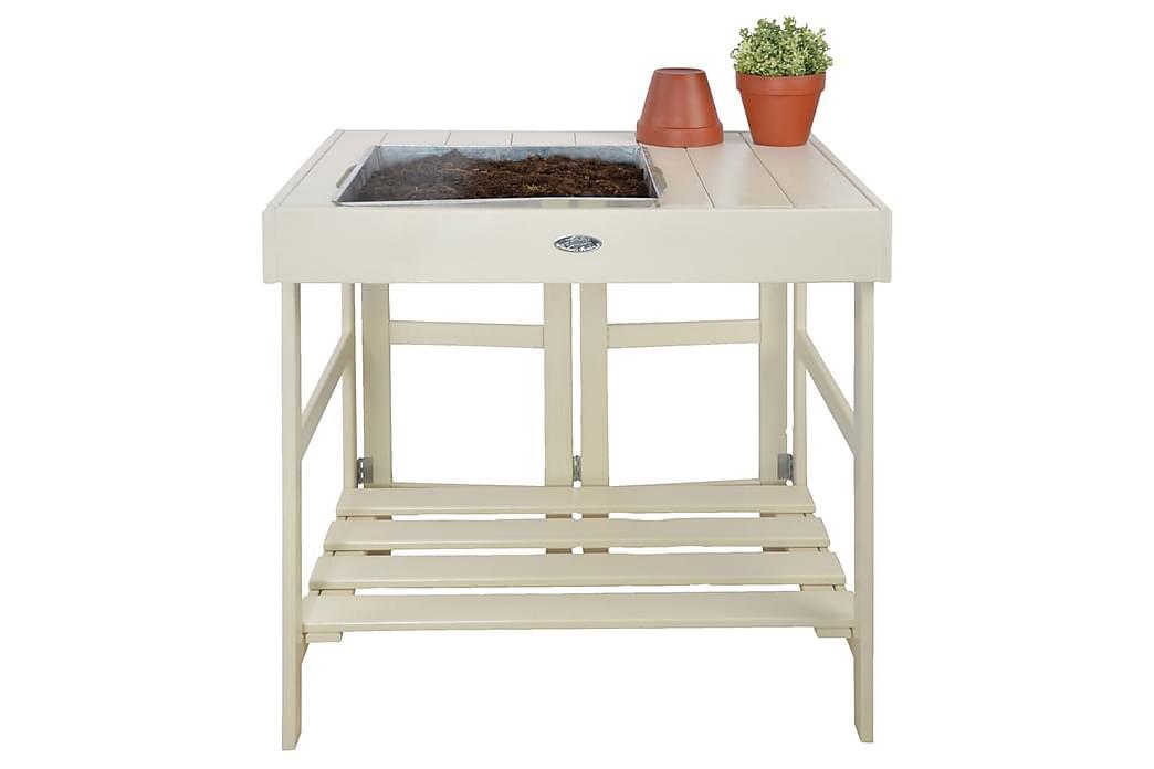 Esschert Design Planteringsbord vit - Vit - Utemöbler - Tillbehör - Övriga trädgårdstillbehör