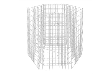 Hexagonal planteringsgabion 100x90x100 cm