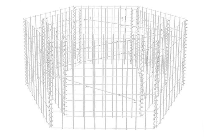 Hexagonal planteringsgabion 100x90x50 cm - Utemöbler - Trädgårdstillbehör - Övriga trädgårdstillbehör