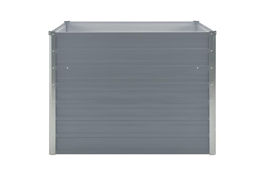 Odlingslåda 100x100x77 cm galvaniserad stål grå - Grå - Utemöbler - Tillbehör - Övriga trädgårdstillbehör