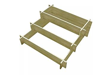 Odlingslåda 3 nivåer impregnerat trä 90 x 90 x 35 cm