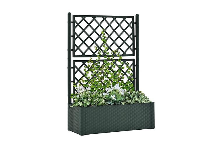 Odlingslåda med spaljé och självbevattning grön - Grön - Utemöbler - Tillbehör - Övriga trädgårdstillbehör