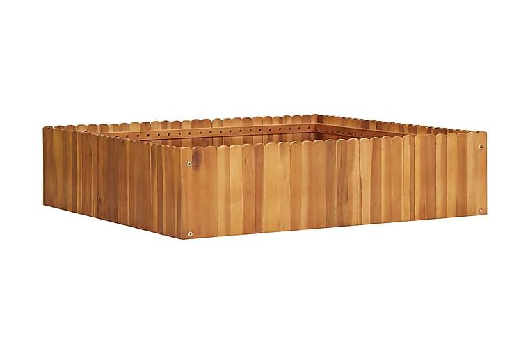 Odlingslåda upphöjd 100x100x25 cm massivt akaciaträ - Brun - Utemöbler - Tillbehör - Övriga trädgårdstillbehör