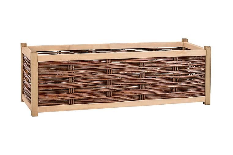 Odlingslåda upphöjd 120x40x40 cm massiv furu - Brun - Utemöbler - Tillbehör - Övriga trädgårdstillbehör