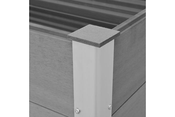 Odlingslåda WPC 150x100x54 cm grå - Grå - Utemöbler - Tillbehör - Övriga trädgårdstillbehör