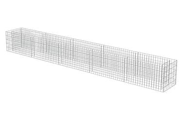 Planteringsgabion i galvaniserat stål 450x50x50 cm