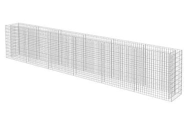 Planteringsgabion i galvaniserat stål 540x50x100 cm