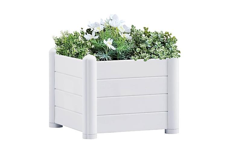 Upphöjd odlingslåda PP vit 43x43x35 cm - Vit - Utemöbler - Tillbehör - Övriga trädgårdstillbehör