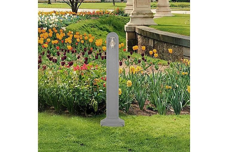 Vattenpost grå stenimitation - Grå - Utemöbler - Tillbehör - Övriga trädgårdstillbehör