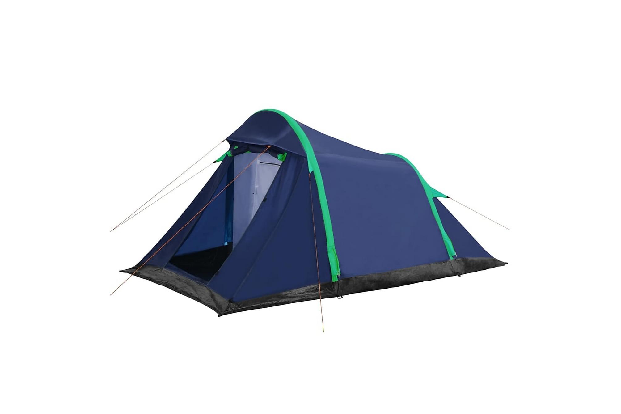 Campingtält m. uppblåsbarastänger 320x170x150/110cm blå/grön, Partytält