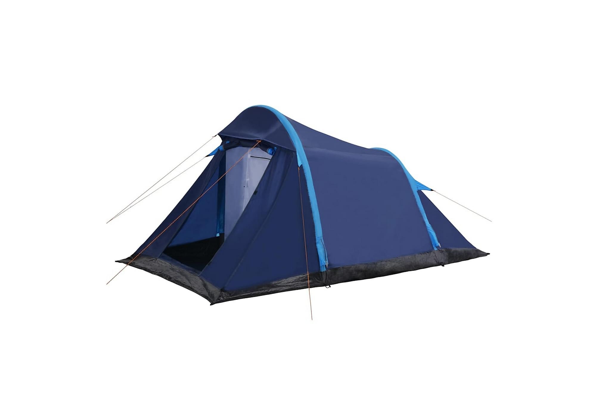 Campingtält med uppblåsbara stänger 320x170x150/110 cm blå, Partytält