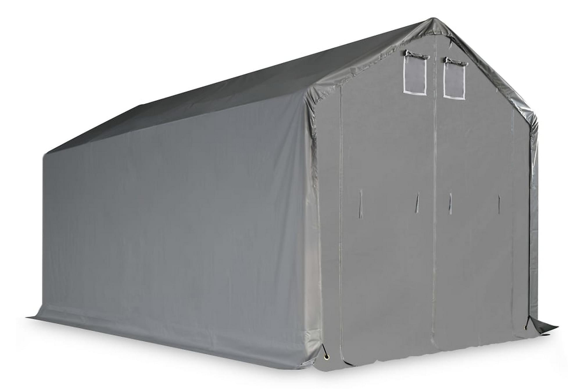 Förvaringstält PVC 5x10 m grå, Partytält