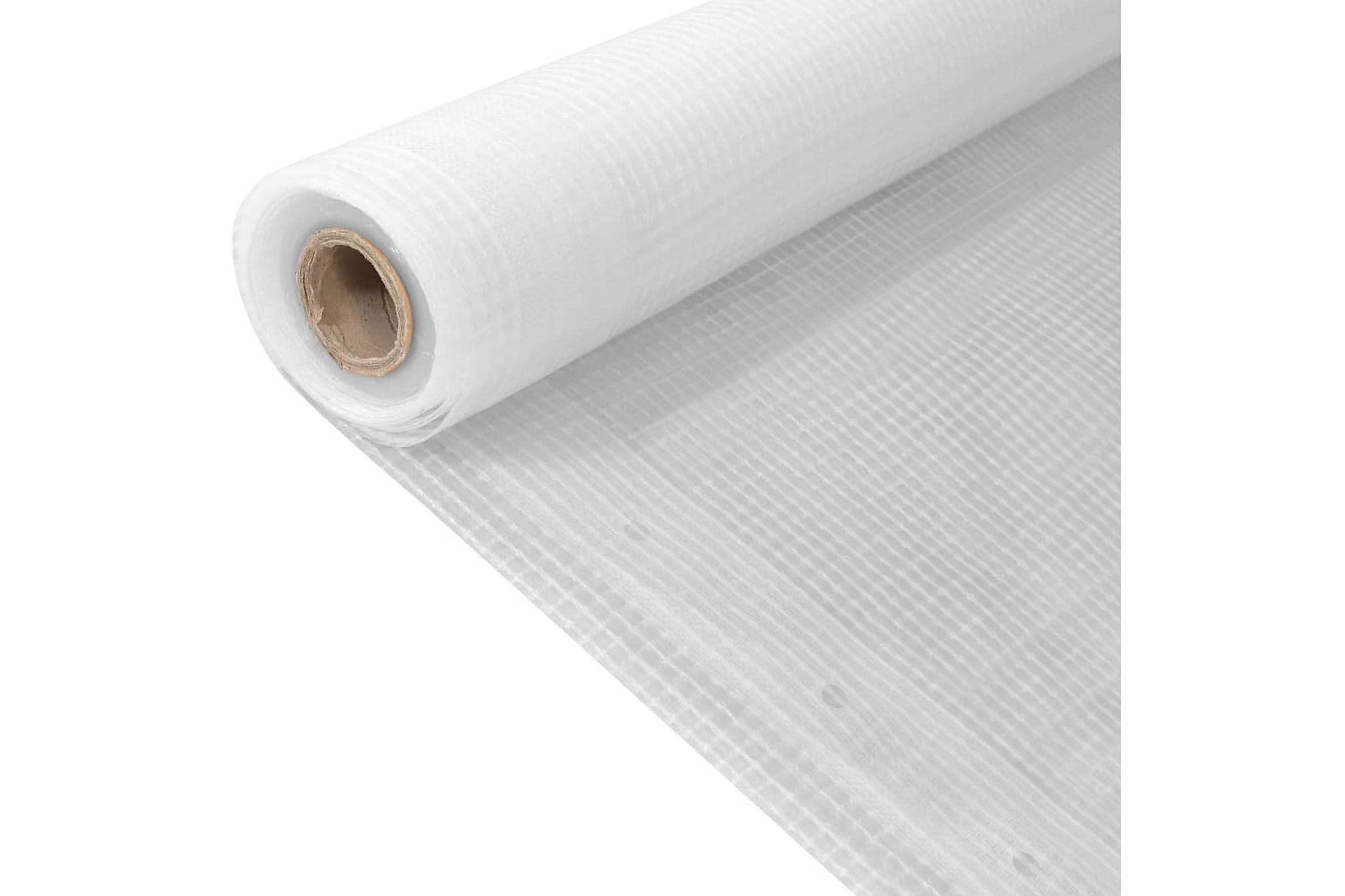 Leno presenning 260 g/m² 2x20 m vit, Presenningar