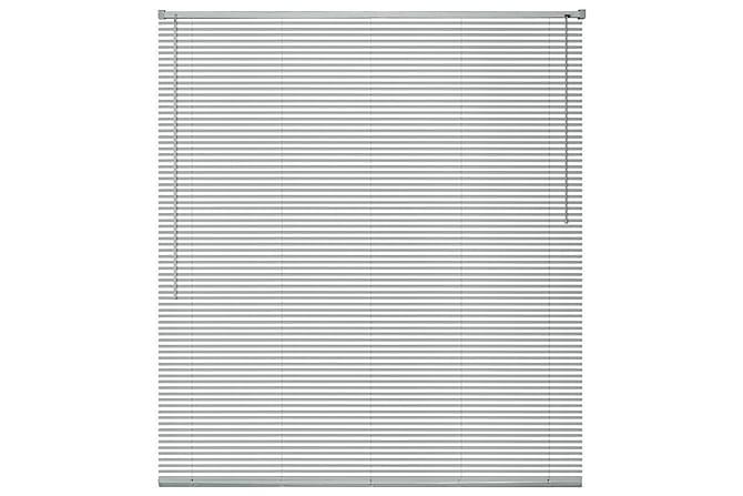 Persienner aluminium 140x130 cm silver - Vit - Utemöbler - Tillbehör - Presenningar