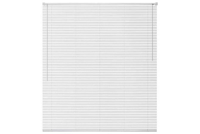 Persienner aluminium 140x220 cm vit - Vit - Utemöbler - Tillbehör - Presenningar