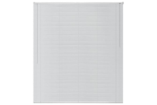 Persienner aluminium 80x220 cm vit - Vit - Utemöbler - Tillbehör - Presenningar