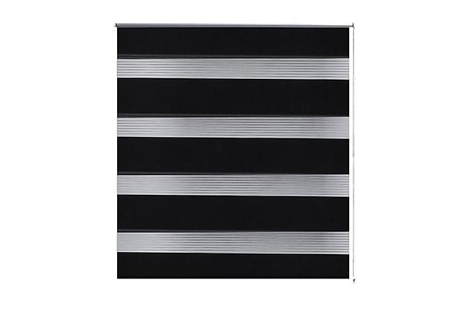 Rullgardin randig svart 70 x 120 cm transparent - Vit - Utemöbler - Tillbehör - Presenningar