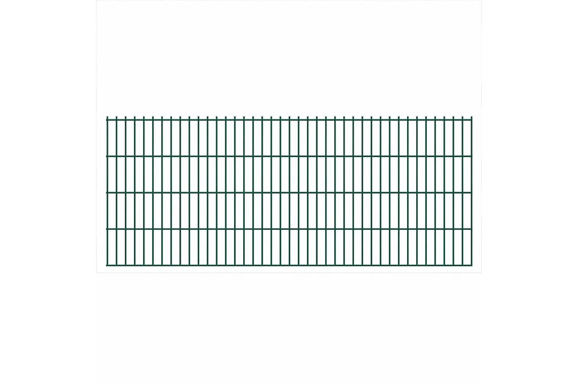 2D Stängselpanel 2008×830 mm Grön